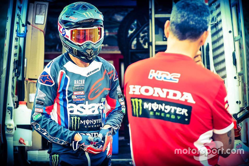 Joan Barreda entrenando, Monster Energy Honda