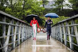 Charles Leclerc, PREMA Racing; Artem Markelov, RUSSIAN TIME