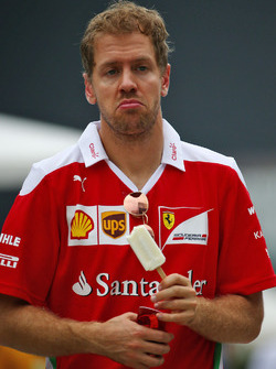 Sebastian Vettel, Ferrari eats an ice lolly