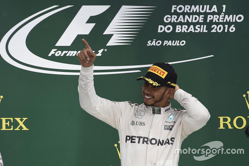Lewis Hamilton, ganador del GP de Brasil 2016