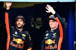Daniel Ricciardo, Red Bull Racing and Max Verstappen, Red Bull Racing celebrate in parc ferme