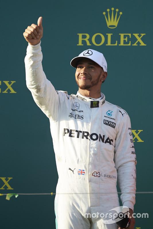 Podium: 2. Lewis Hamilton, Mercedes AMG