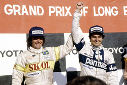 1. Nelson Piquet, Brabham BT49-Ford Cosworth; 3. Emerson Fittipaldi, Fittipaldi F7-Ford Cosworth