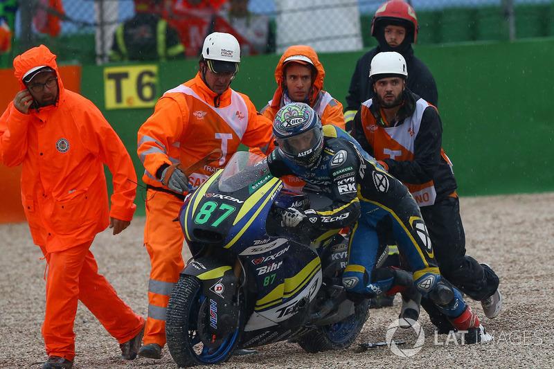 Remy Gardner, Tech 3 Racing, después de su caída