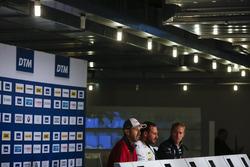 Conferenza stampa: René Rast, Audi Sport Team Rosberg, Audi RS 5 DTM, Gary Paffett, Mercedes-AMG Team HWA, Mercedes-AMG C63 DTM, Maxime Martin, BMW Team RBM, BMW M4 DTM