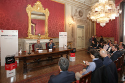 Claudio Domenicali e Virginio Merola