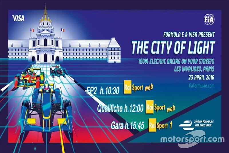 ePrix di Parigi, la locandina RAI