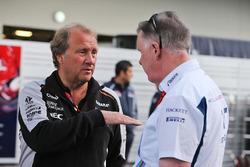 Robert Fernley, Sahara Force India F1 Team Deputy Team Principal with Mike O'Driscoll, Williams Group CEO