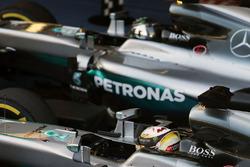 Winner Nico Rosberg, Mercedes AMG F1 Team, second place Lewis Hamilton, Mercedes AMG F1 Team in parc