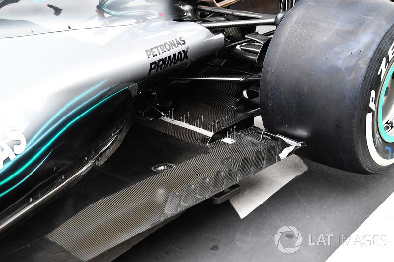 Mercedes-AMG F1 W09 EQ Power+ rear floor detail