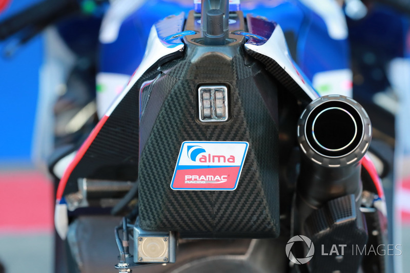 La moto de Danilo Petrucci, Pramac Racing