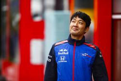 A Toro Rosso Honda team member in the paddock