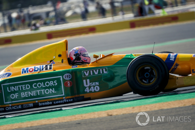 Benetton Ford B193B at Silverstone 70th Anniversary Parade