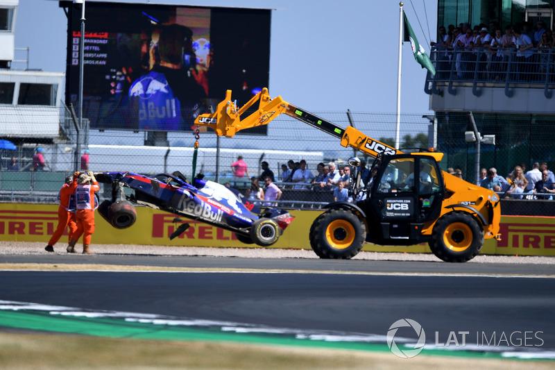 Brendon Hartley, Scuderia Toro Rosso STR13 après son accident