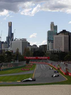 Лэнс Стролл, Williams FW41, Маркус Эрикссон, Alfa Romeo Sauber C37, Пьер Гасли, Scuderia Toro Rosso STR13, и Шарль Леклер, Alfa Romeo Sauber C37
