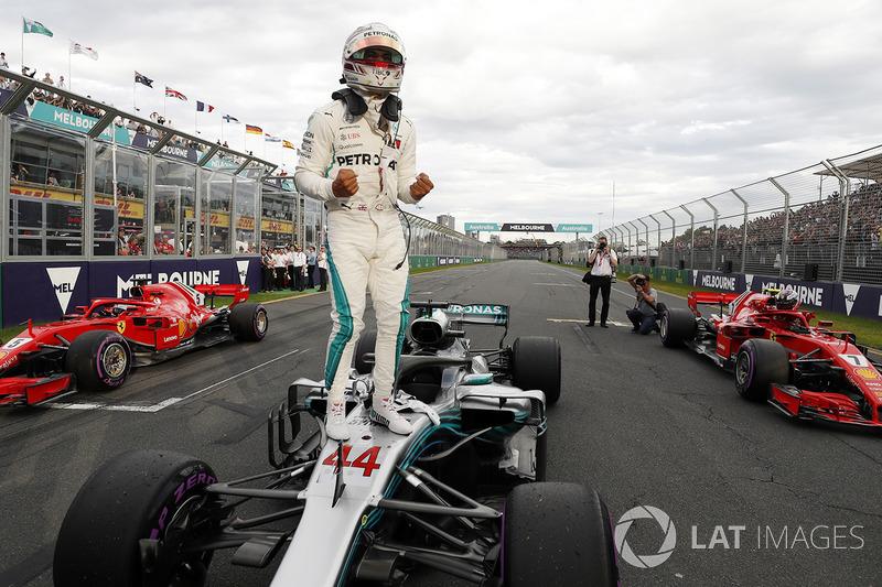 Pole pozisyonu sahibi Lewis Hamilton, Mercedes AMG F1 W09