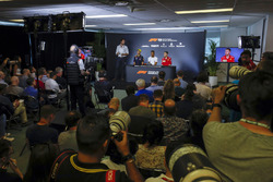 A wide view of the Thursday drivers Press Conference featuring Daniel Ricciardo, Red Bull Racing, Le