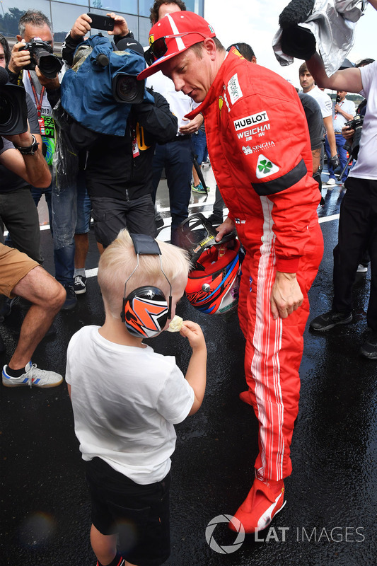 Кімі Райкконен, Ferrari, син Робін