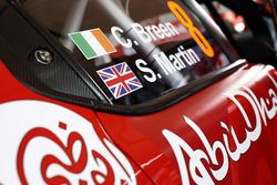 Détail de la voiture de Craig Breen, Scott Martin, Citroën C3 WRC, Citroën World Rally Team