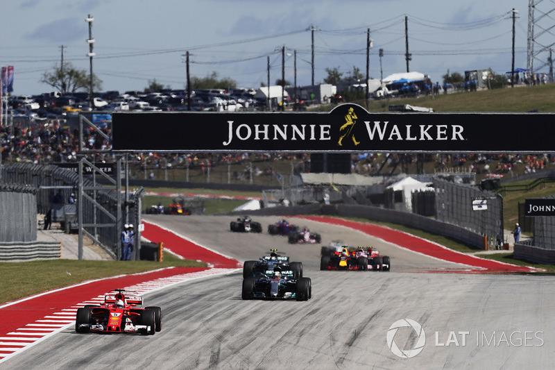 Себастьян Феттель, Ferrari SF70H, Льюіс Хемілтон, Mercedes AMG F1 W08, Валттері Боттас, Mercedes AMG F1 W08