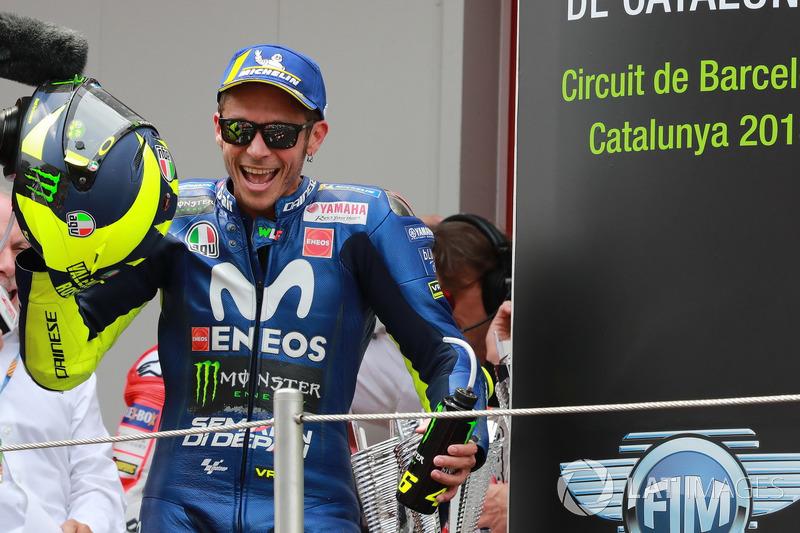 Podio: Valentino Rossi, Yamaha Factory Racing
