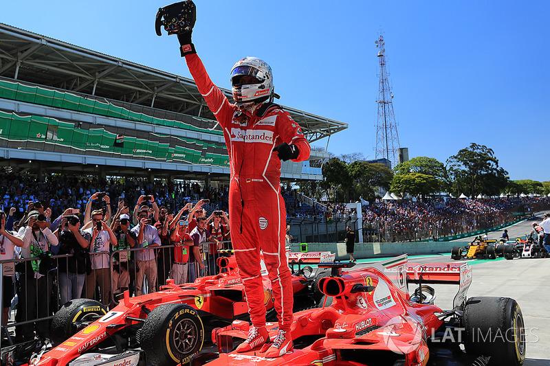 Ganador del GP de Brasil 2017: Sebastian Vettel, Ferrari