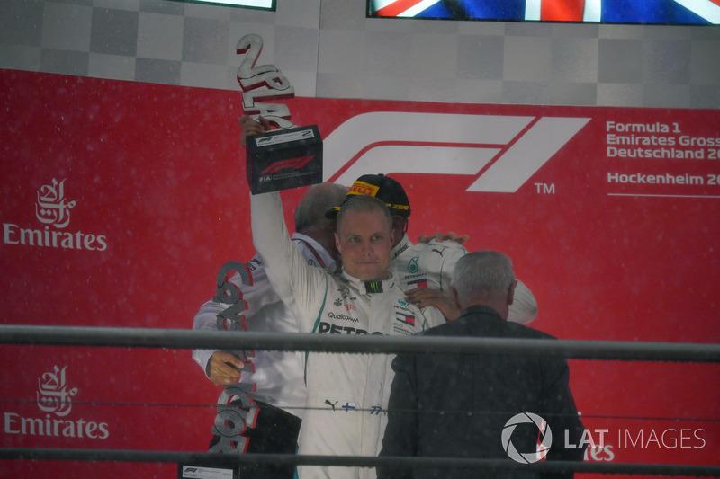 Valtteri Bottas, Mercedes-AMG F1, festeggia sul podio