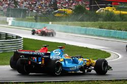 Fernando Alonso, Renault R26 en Felipe Massa, Ferrari 248 F1