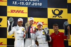 Podium: Race winner René Rast, Audi Sport Team Rosberg, second place Gary Paffett, Mercedes-AMG Team HWA, third place Paul Di Resta, Mercedes-AMG Team HWA