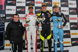 Podium: First place Linus Lundqvist, Double R Racing, second place Kush Maini, Lanan Racing, third place Jordan Cane, Douglas Motorsport