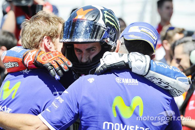 Ganador de la carrera Jorge Lorenzo, Yamaha Factory Racing