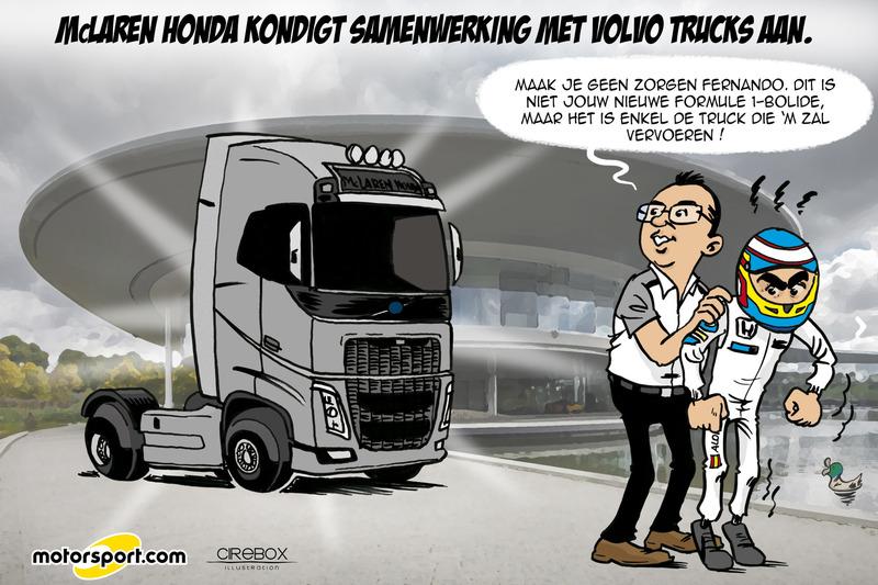 Cartoon van Cirebox - De nieuwe F1-bolide van Alonso?