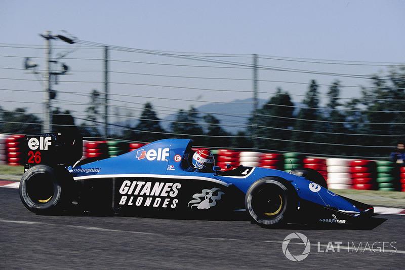 14. Erik Comas 59 GPs (1991-1994), o melhor resultado é o 5° lugar na França 1992.