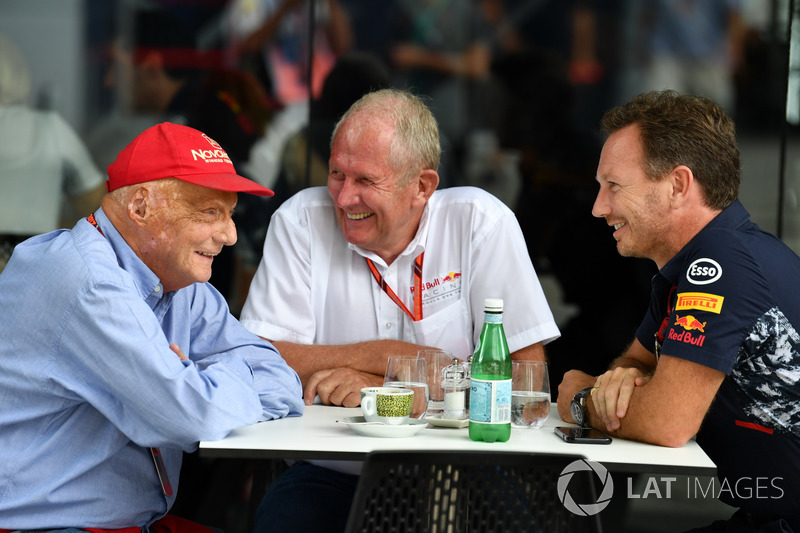 Невиконавчий директор Mercedes AMG F1 Нікі Лайда, консультант Red Bull Racing Гельмут Марко, керівник Red Bull Racing Крістіан Хорнер