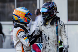 Fernando Alonso, McLaren, third place Lance Stroll, Williams