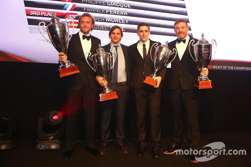 2016 Copa Endurance Pro-AM Copa piltos, Alessandro Bonacini, Andrea Rizzoli, champions, Oliver Morley, Miguel Toril, tercer lugar