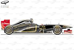 Lotus Renault R31 side view, launch car