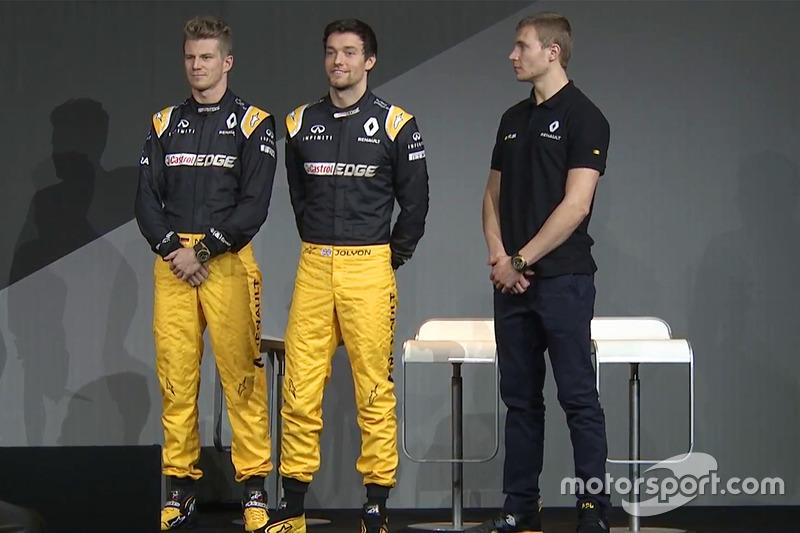 Die Renault-Fahrer 2017: Nico Hülkenberg, Jolyon Palmer, Sergey Sirotkin