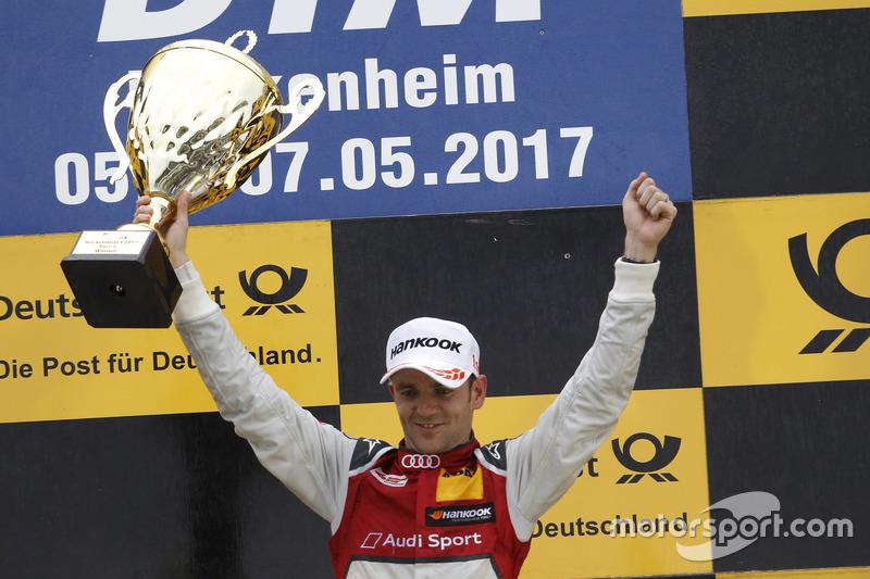 Podium: Race winner Jamie Green, Audi Sport Team Rosberg, Audi RS 5 DTM