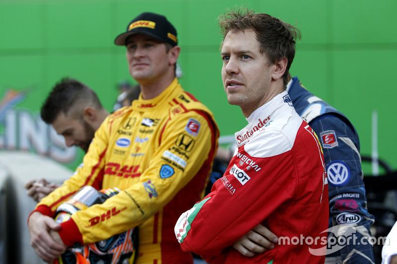 Ryan Hunter-Reay y Sebastian Vettel