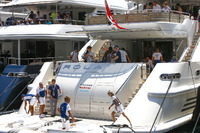 The Williams F1 team yacht