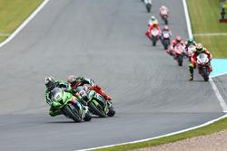 Leon Haslam, Puccetti Racing, Tom Sykes, Kawasaki Racing