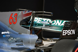 Mercedes-Benz F1 W08  engine cover wing