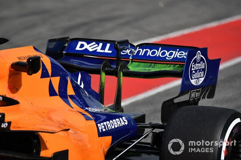 McLaren MCL34 arka kanat ve aero boyası
