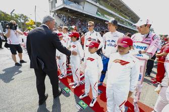 Chase Carey, Chairman, Formula Uno, incontra i grid kid