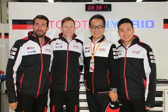 Kamui Kobayashi, Jose Maria Lopez, Mike Conway, Toyota Gazoo Racing with Shigeki Tomoyama, President Gazoo Racing