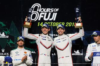 Podio GT Pro: winners #92 Porsche GT Team Porsche 911 RSR: Michael Christensen, Kevin Estre