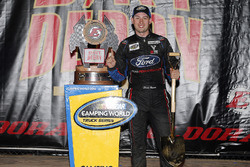 Chase Briscoe, ThorSport Racing, Ford F-150 Ford celebrates in victory lane