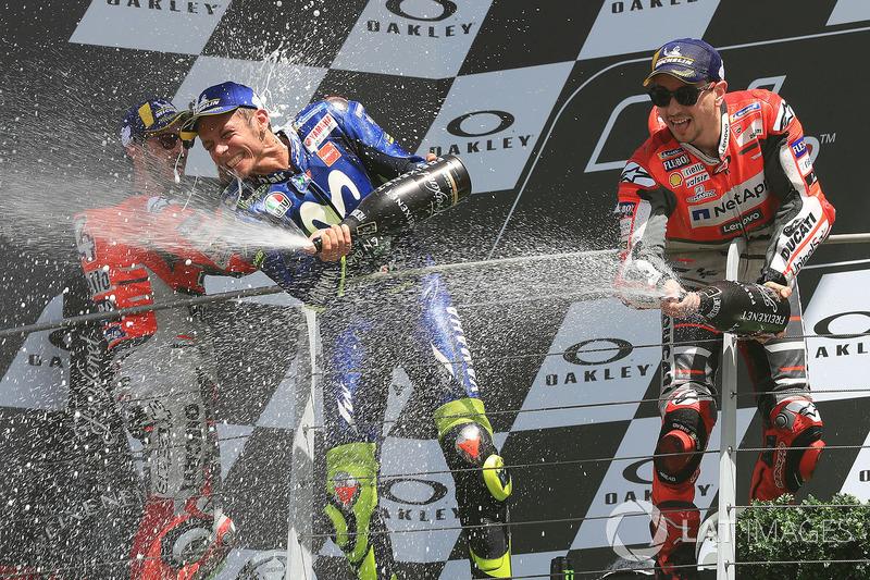 Andrea Dovizioso, Valentino Rossi, Jorge Lorenzo