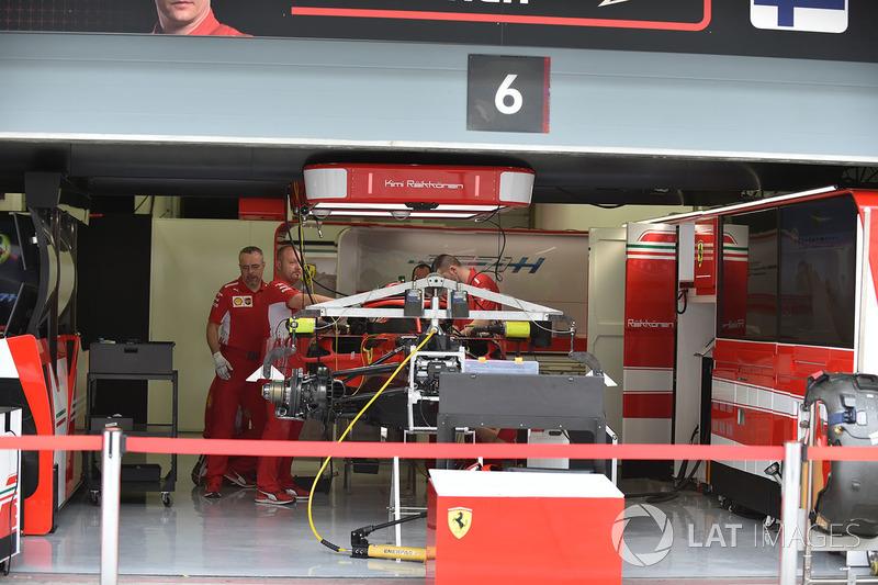 Ferrari SF71H in the garage